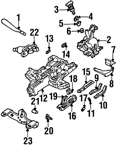 Lincoln Continental Actuator cover. WHEEL, WTILT, Manual