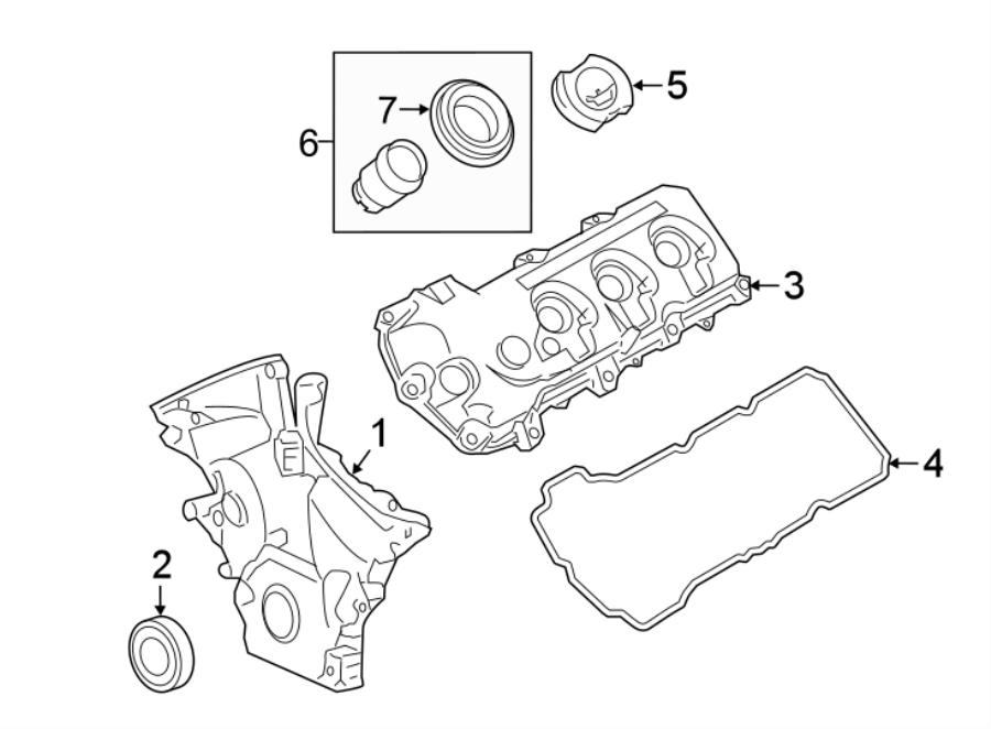 Lincoln MKS Grommet. Filler. Tube. Valve. Retainer. 3.5