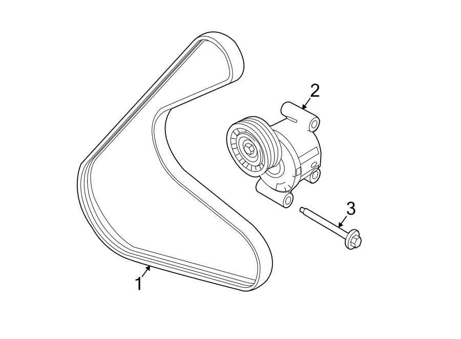 Lincoln MKZ Accessory Drive Belt Tensioner Assembly
