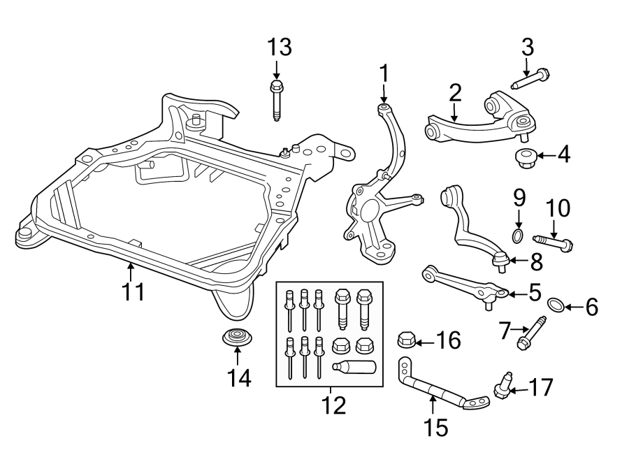 Lincoln MKZ Suspension Control Arm (Front, Rear, Lower