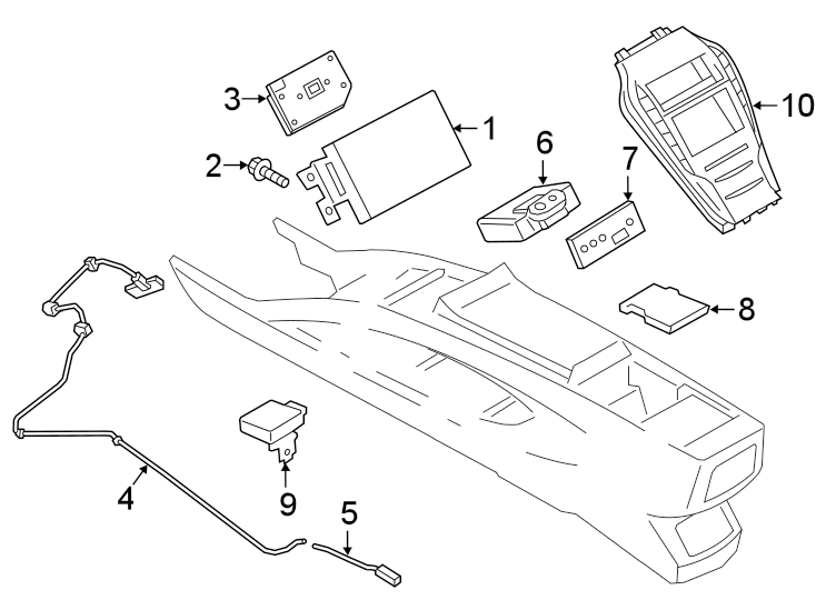 Ford Fusion Dash control unit. Radio bezel. 11, 14 speaker