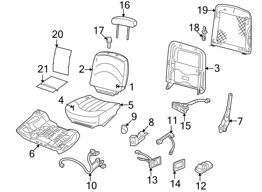 Mercury Grand Marquis Seat Switch Panel Bezel. BUCKET SEAT