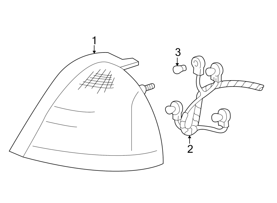 Mercury Grand Marquis Tail Light Socket. Grand Marquis. W
