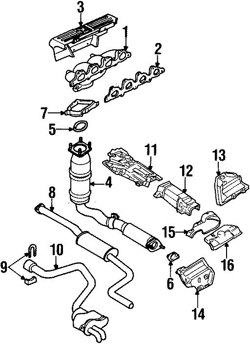 Ford Contour Clamp. EXHAUST. Muffler. SYSTEM. KIT