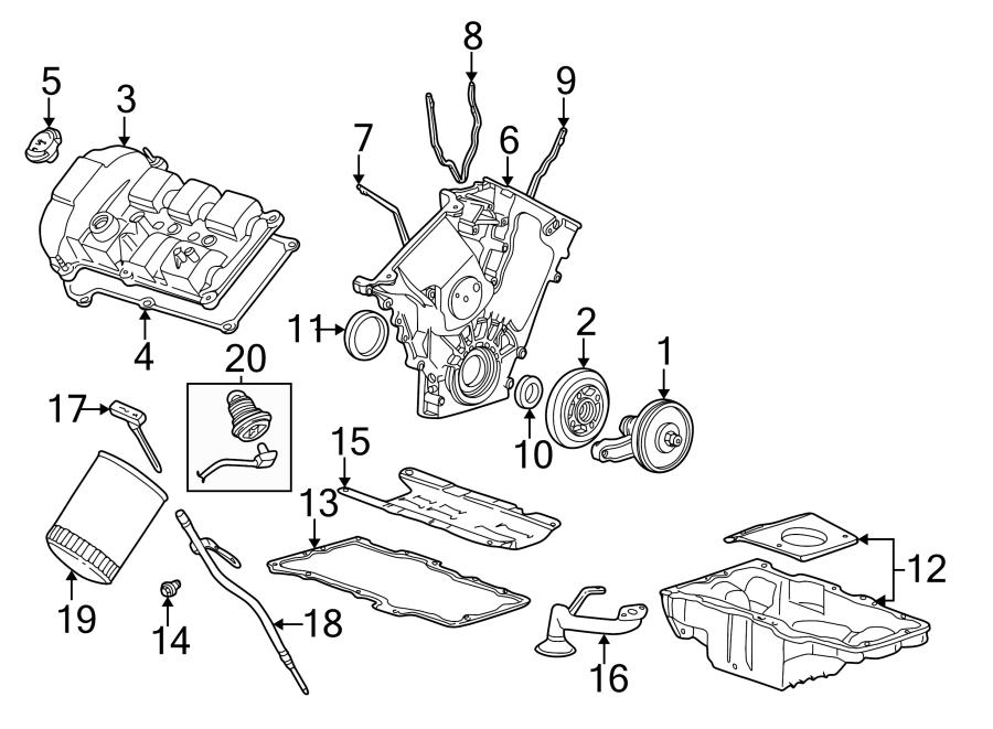 Mercury Sable Engine Valve Cover Gasket. 3.0 LITER DOHC