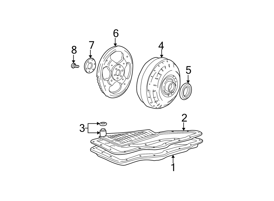 Mercury Sable Automatic Transmission Oil Pump Seal