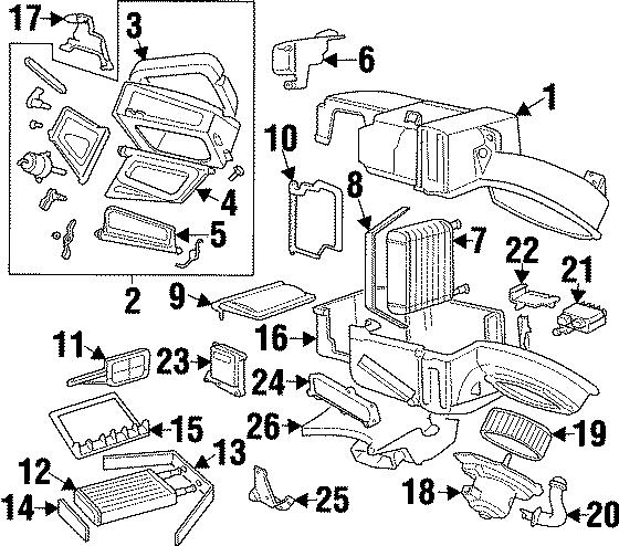 Ford Contour Hvac blower motor control module. 1997-98