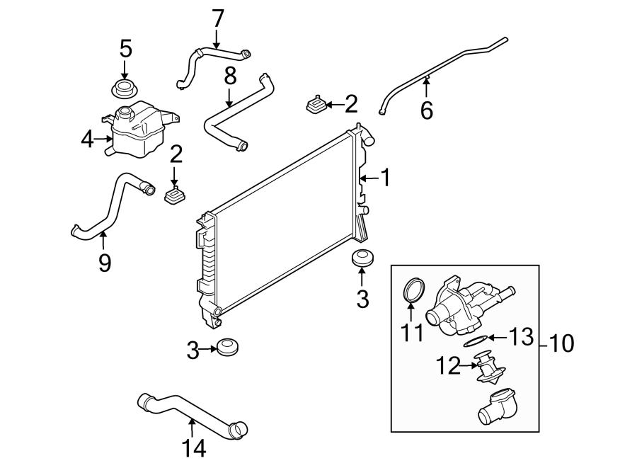 Mercury Sable Radiator Coolant Hose. LITER, Trailer