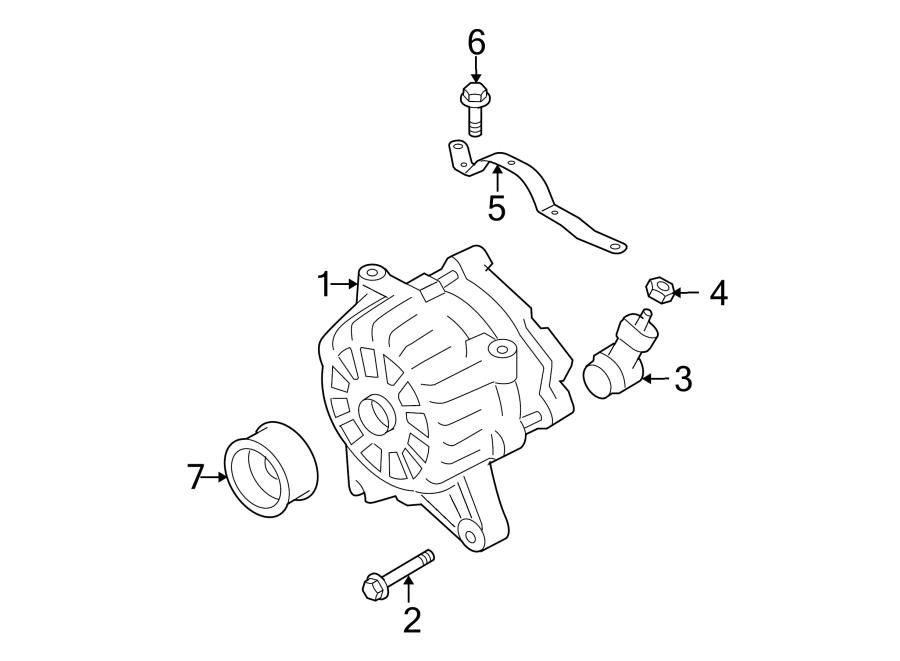 Ford F-150 Alternator Connector. 4.6 LITER. 5.4 LITER