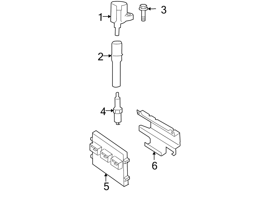 Ford F-150 Engine Control Module. 4.6, 5.4 LITER, 4.6