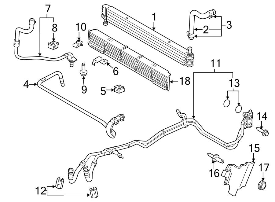 Ford F-150 Transmission Oil Cooler Line Bracket. 3.5 LITER