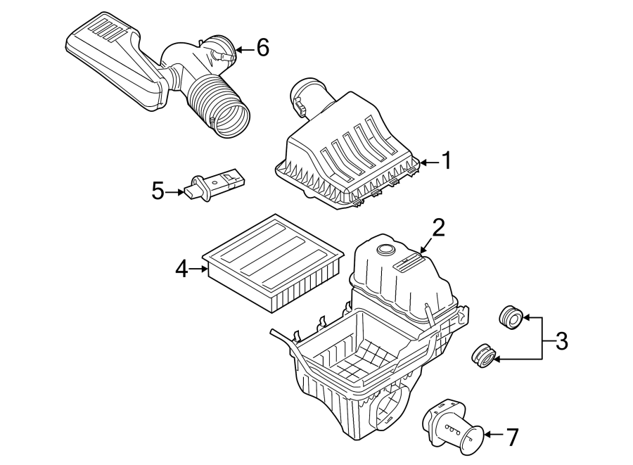 Ford F-150 Engine Air Intake Hose. 4.6 LITER 2 VALVE