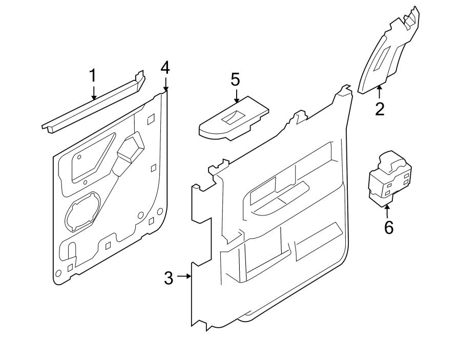 Ford F-150 Door Interior Trim Panel. CREW CAB, KING RANCH