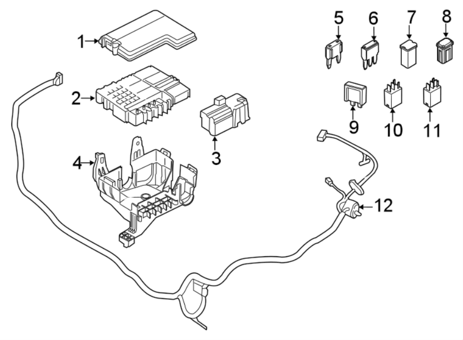 Ford F-150 Cover. Junction. Block. PANEL. Bracket. FUSE