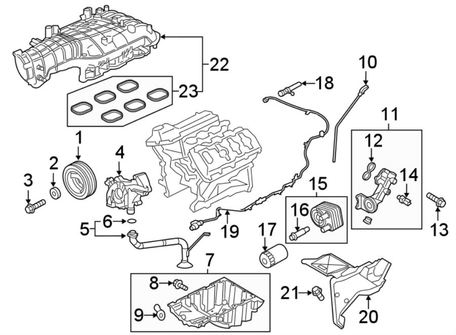Ford F-150 Engine Oil Drain Plug Gasket. 2.7 LITER, 2018