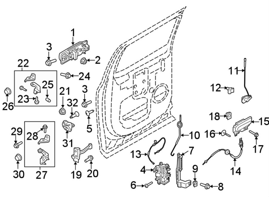 Ford F-150 Lock. Actuator. CREW CAB. F150; w/Power/Auto