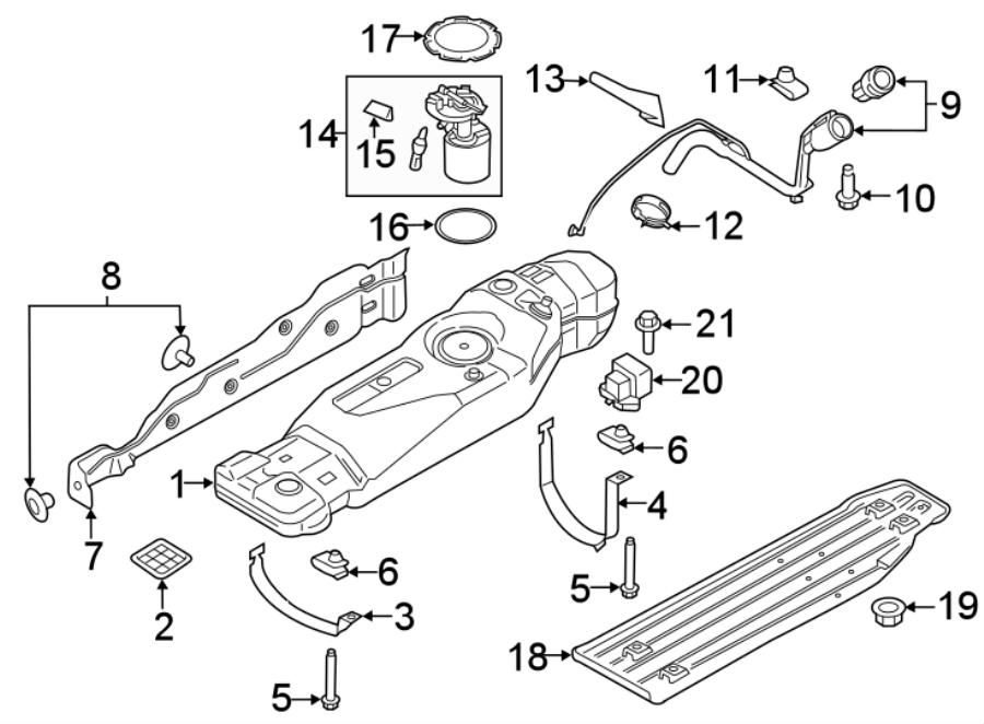 Ford F-150 Filler pipe. Fuel Filler Neck. Fuel Tank Cap