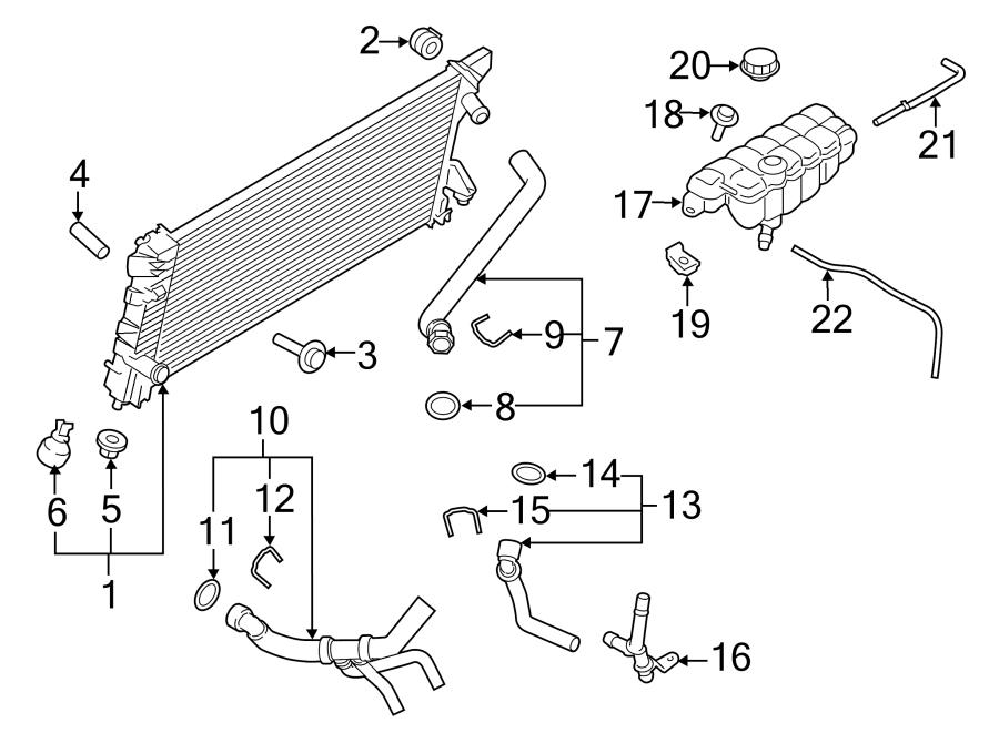 Ford F-150 Radiator Coolant Hose. 5.0 LITER, 2015-17. 5.0