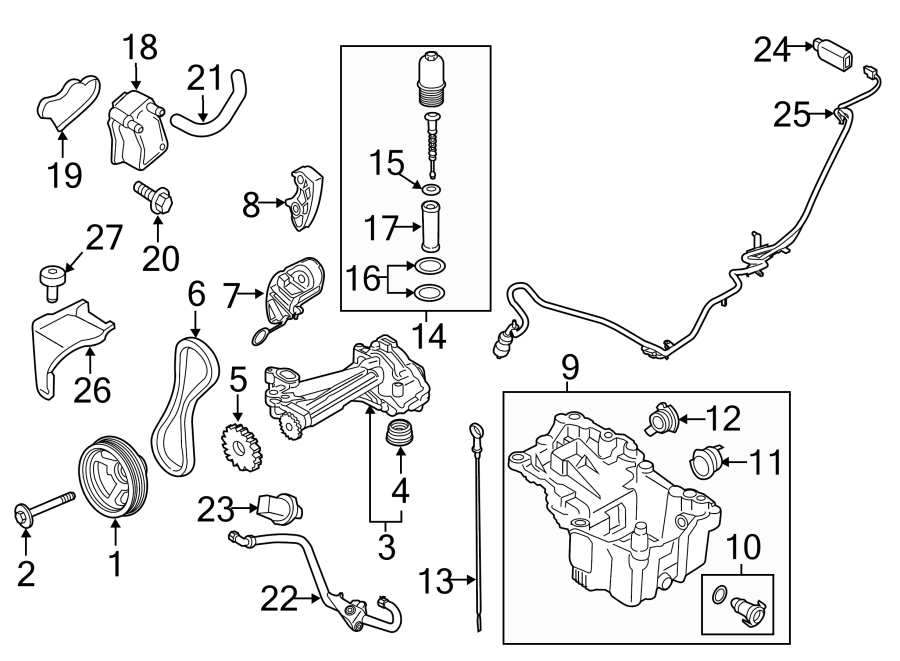 Ford F-150 Engine Oil Drain Plug. SUPERCHARGER, LITER