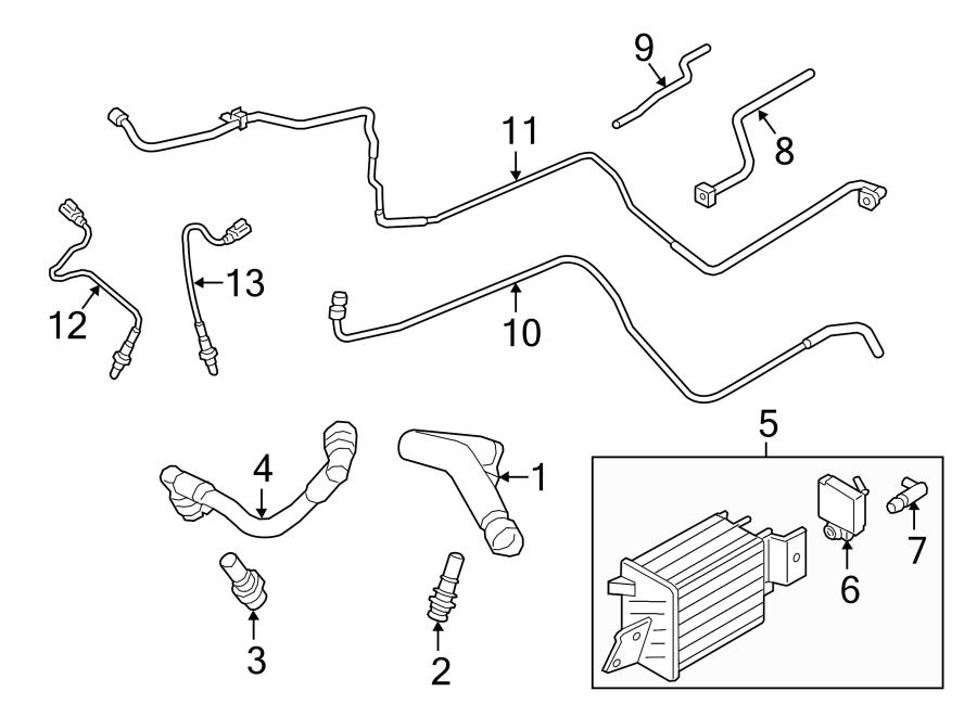 Ford F-150 Oxygen Sensor. EMISSION, LITER, Right