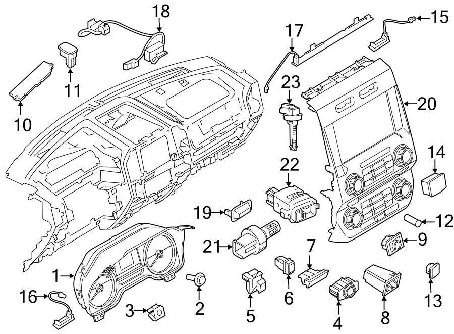 Ford F-250 Super Duty Cabin Air Temperature Sensor