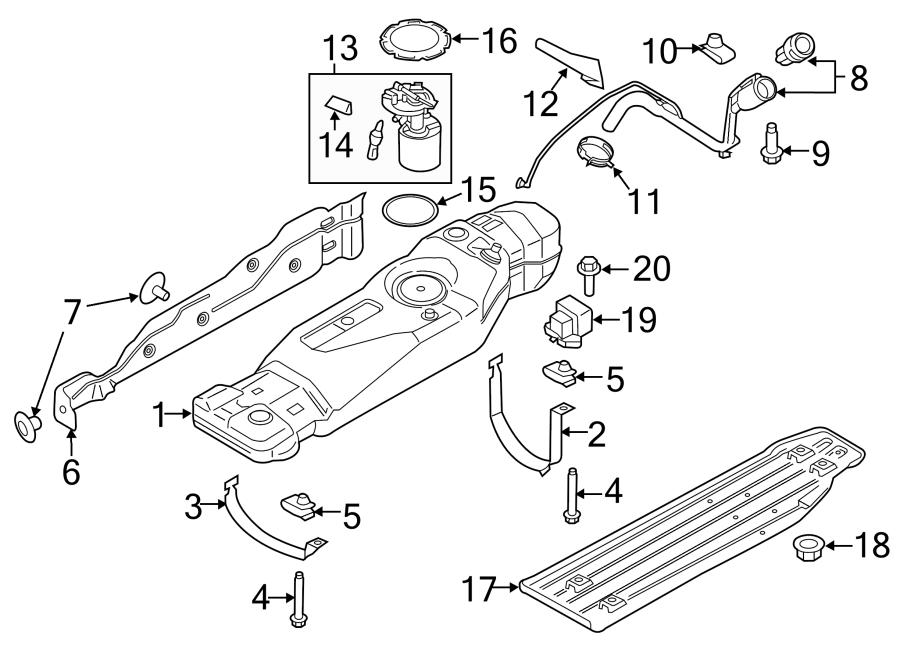 Ford F-150 Fuel Tank Shield. LITER, Heat, Wheelbase
