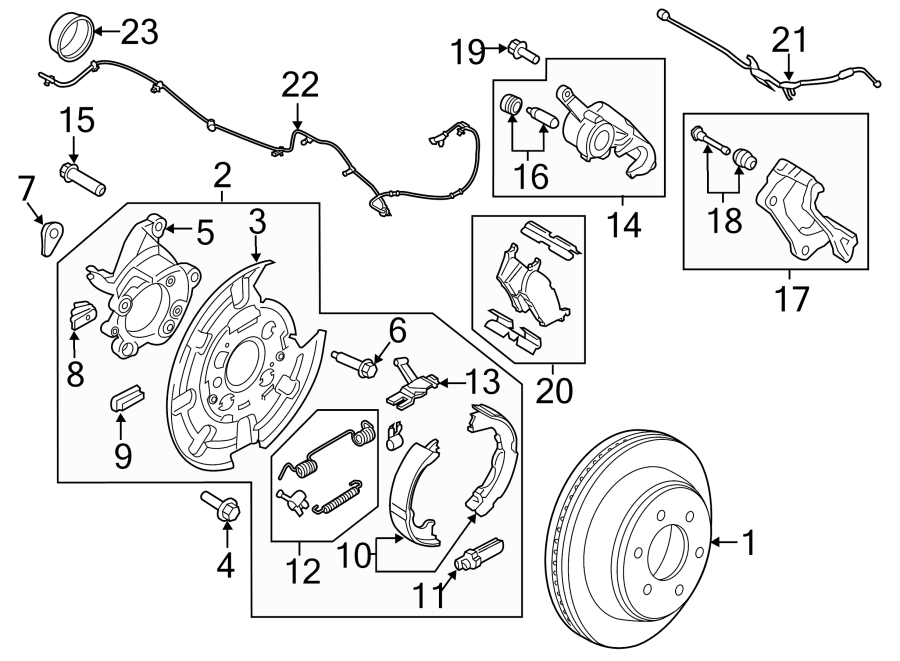 Ford F-150 Brake Hydraulic Hose. Left, Repair, Rear