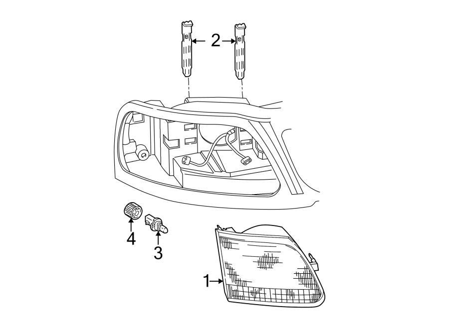Ford F-150 Headlight Bulb. FRONT, HEADLAMP, Right
