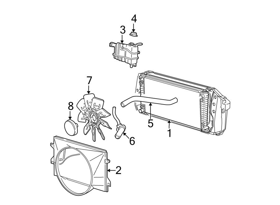 Ford F-150 Engine Cooling Fan Clutch. LITER, RADIATOR