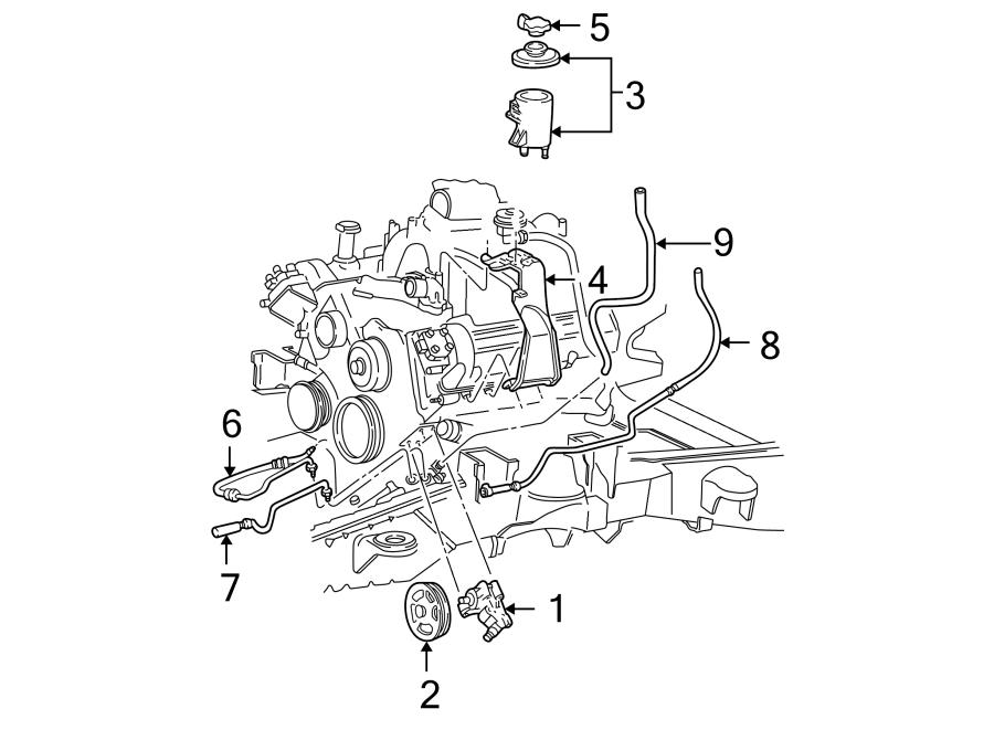 Ford F-150 Power Steering Return Hose. GEAR, Cooler, HOSES