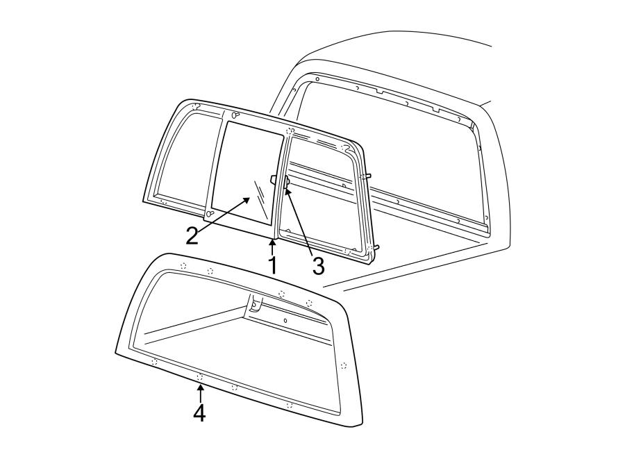 Ford F-150 Back Glass Reveal Molding (Rear). SLIDING
