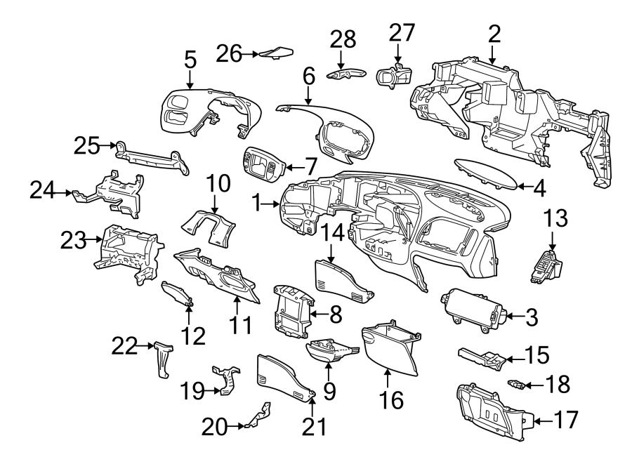 Ford F-250 Instrument Cluster Bezel. Graphite. Graphite