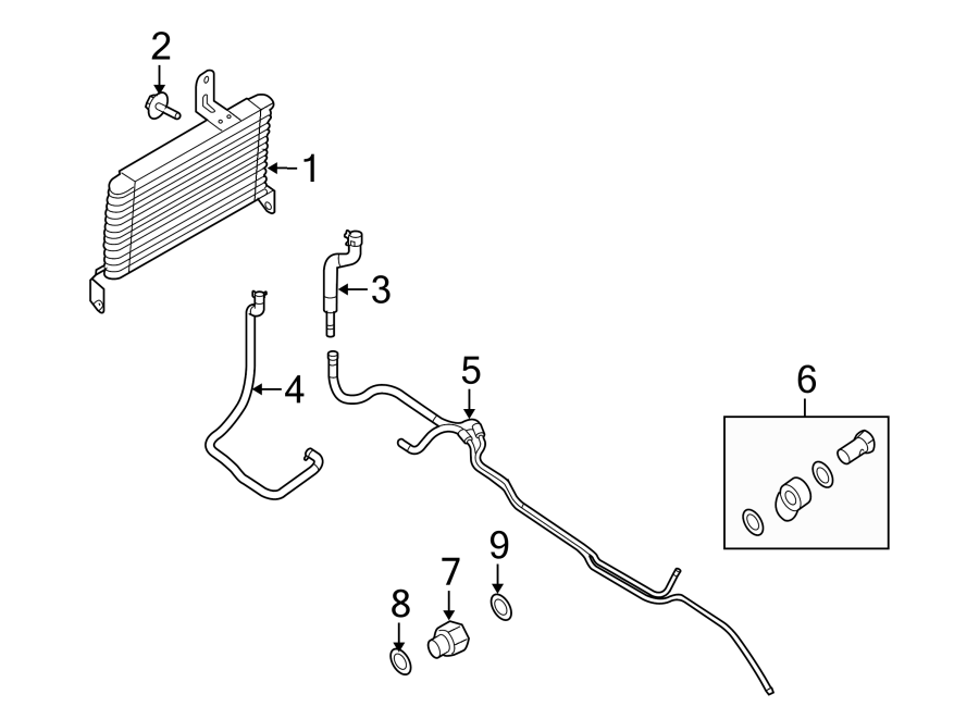 Ford E-150 Automatic Transmission Oil Cooler Line