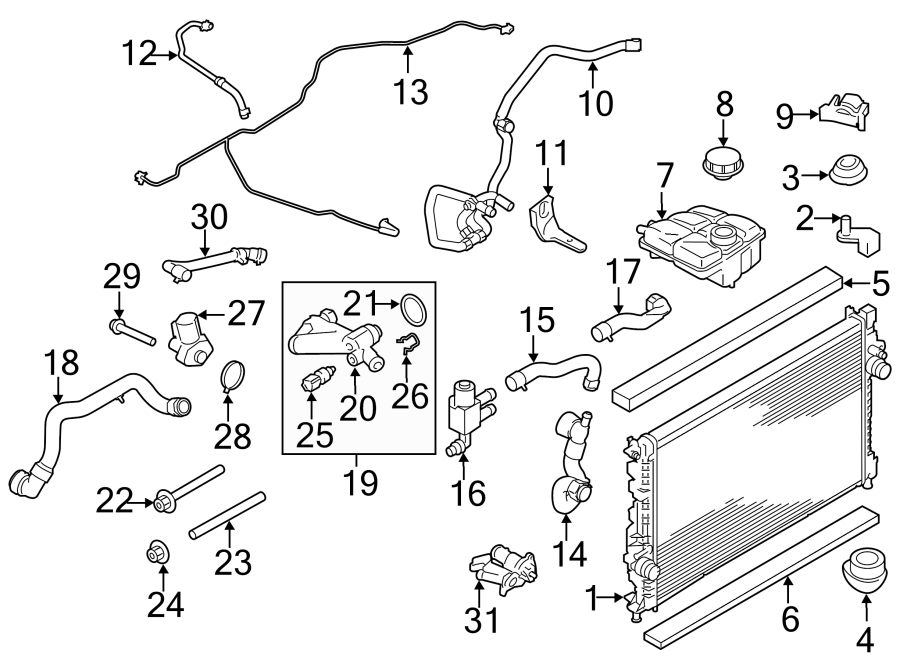 Ford Escape Engine Coolant Hose. 1.6 LITER. RADIATOR
