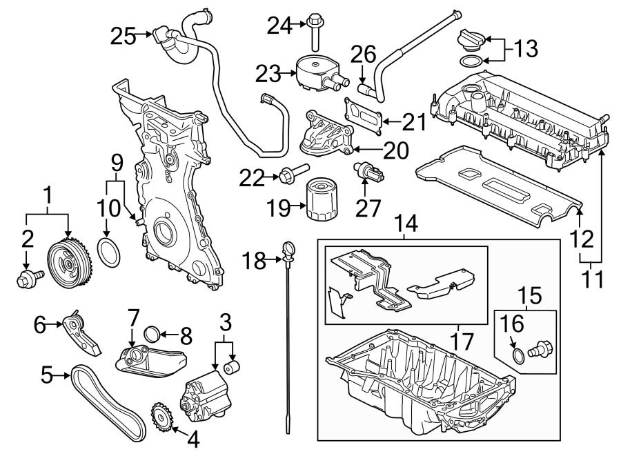 Ford Transit Connect Engine Crankshaft Pulley. 2.5 LITER