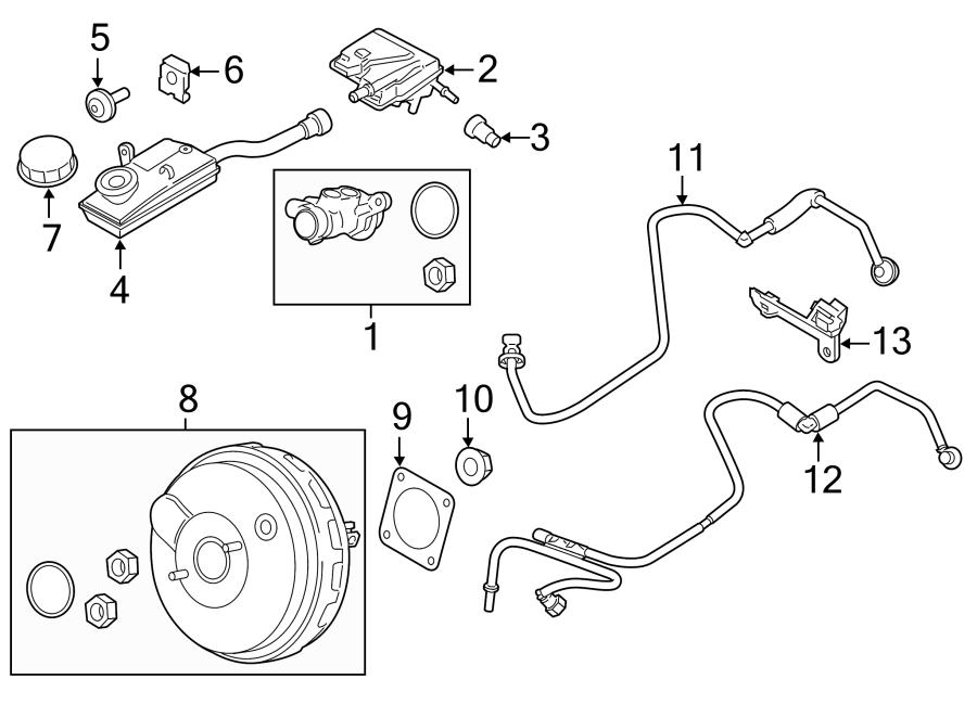 Ford Transit Connect Power Brake Booster Gasket
