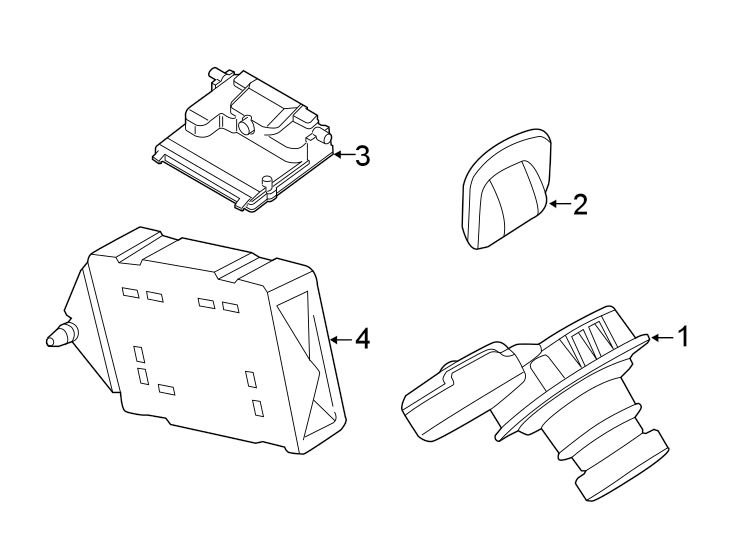 Ford Transit Connect Parking Aid Control Module