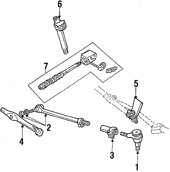 Ford E-450 Econoline Super Duty Steering Tie Rod End
