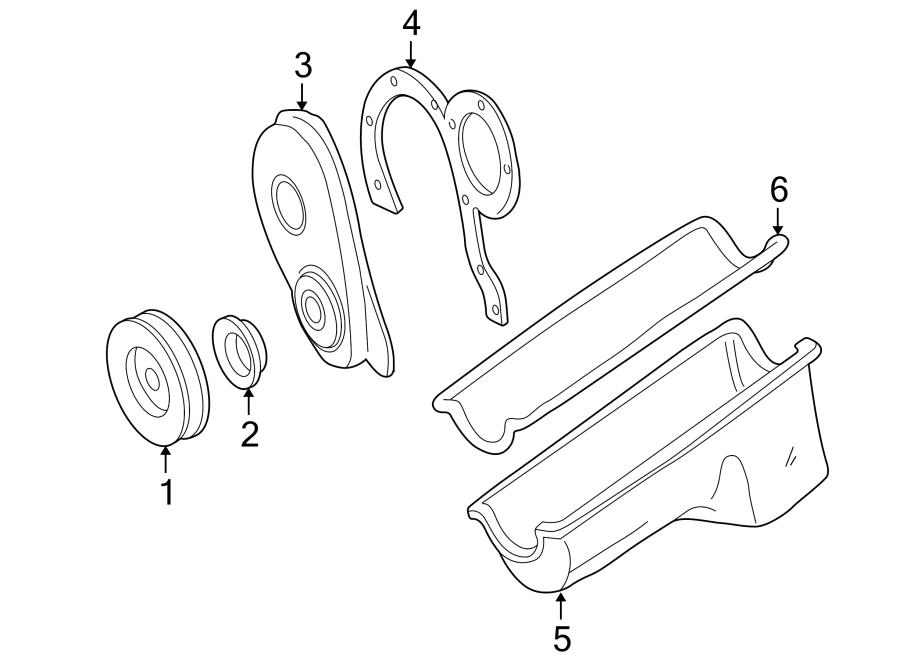 Ford E-150 Econoline Engine Crankshaft Seal. Vans, LITER
