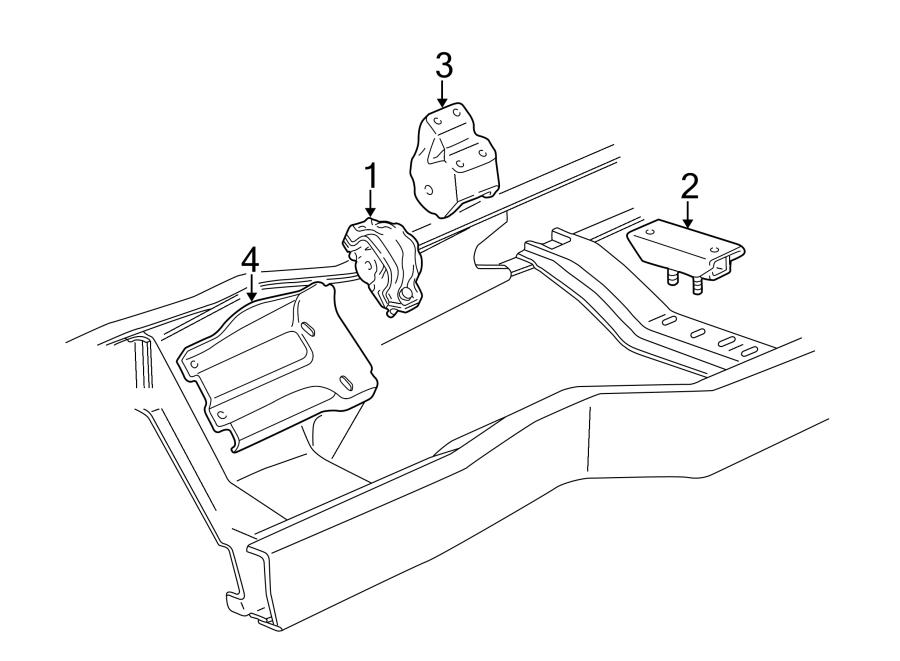 Ford Econoline Super Duty Manual Transmission Mount. LITER