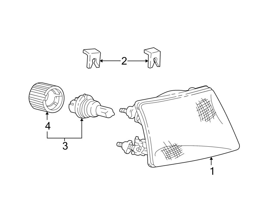 Ford F-250 Headlight Fastener Clip. LAMPS, HEADLAMP, SHO