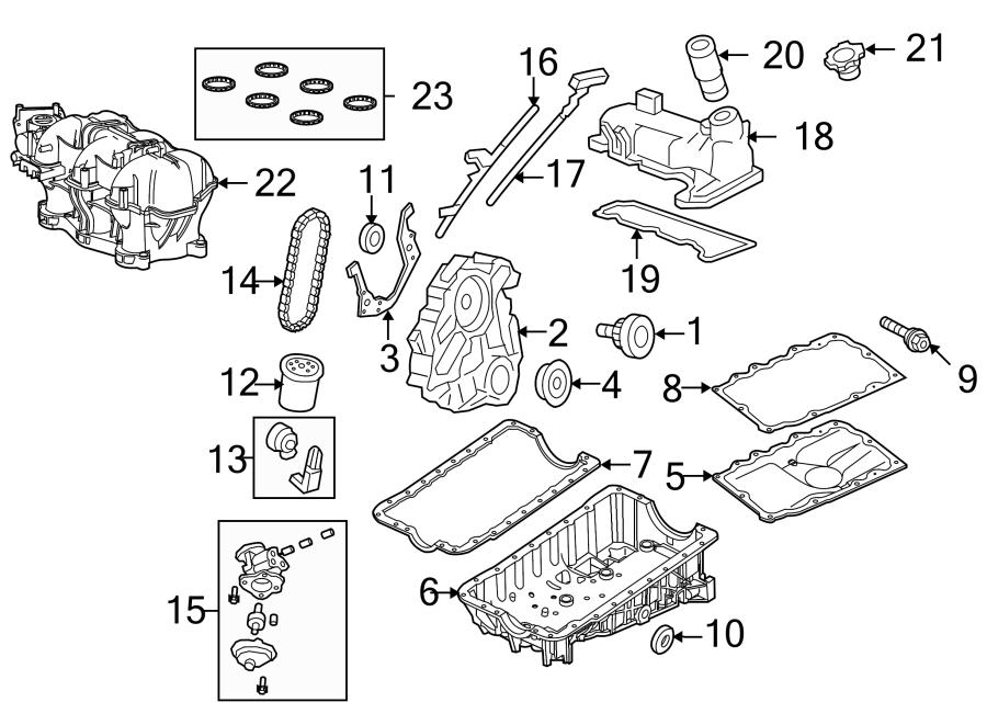 Ford Ranger Engine Crankshaft Seal. LITER, HEAD, BEARINGS
