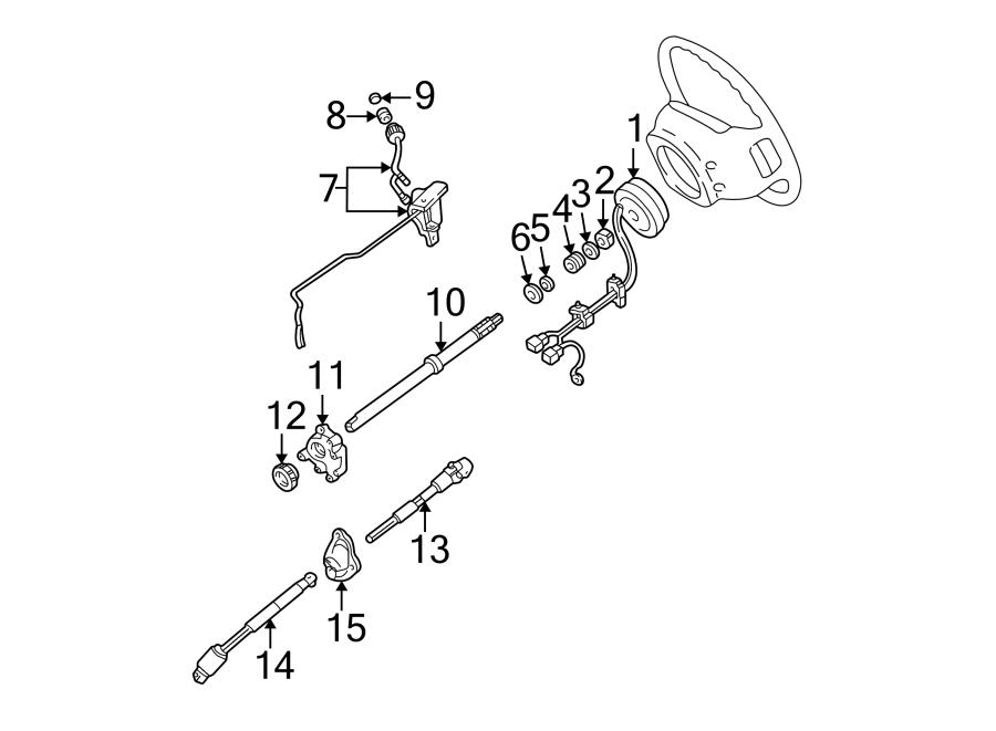 Ford Ranger Steering Shaft. WHEEL, TILT, Intermediate