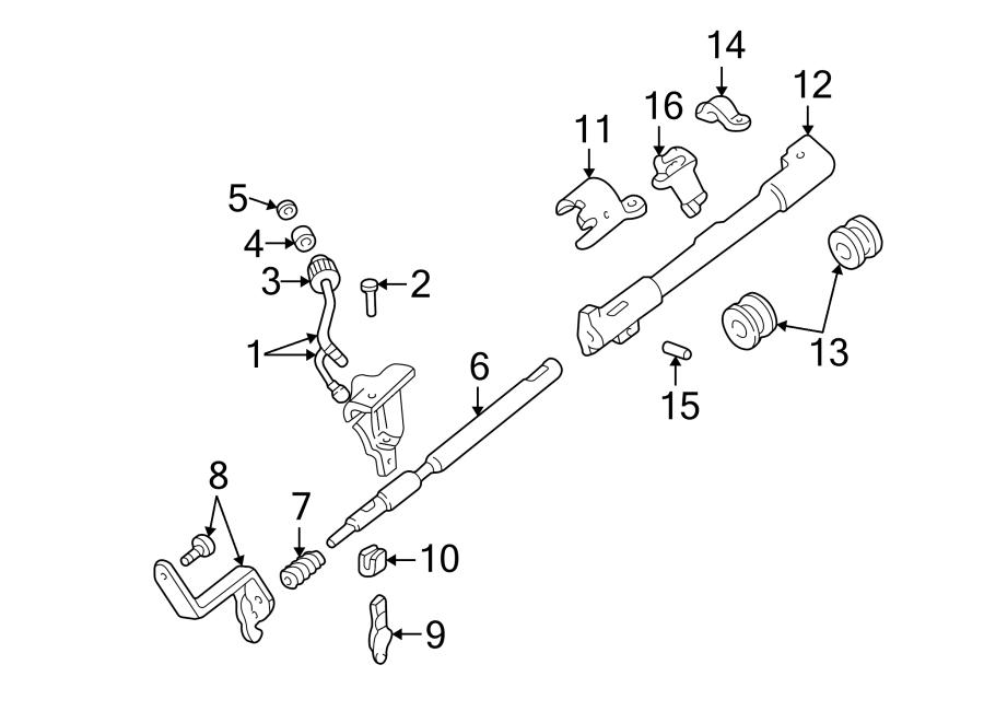 Ford Ranger Shift tube bushing. Tube retainer