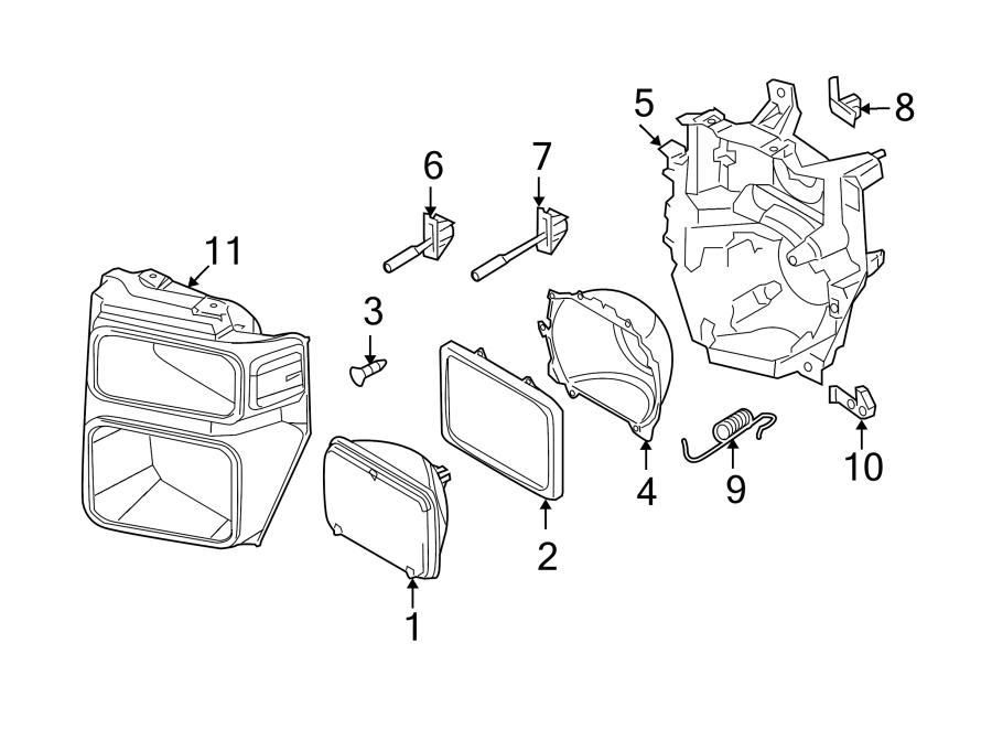 Ford F-250 Super Duty Headlight Adjusting Screw. SEALED