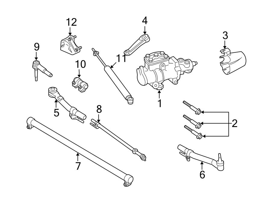 Ford F-450 Super Duty Steering Damper Bracket. A bracket