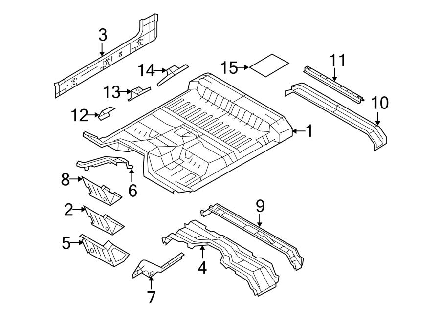 Ford F-350 Super Duty Seat Belt Reinforcement. SUPER CAB