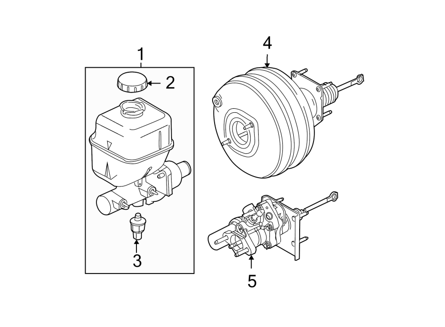 Ford F-250 Super Duty Brake Fluid Pressure Sensor