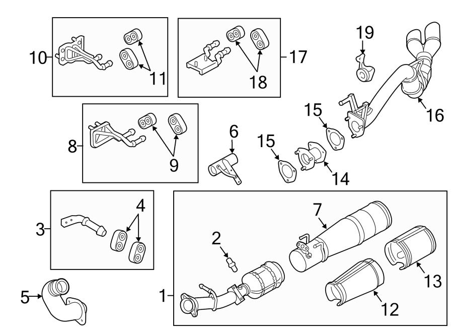 Ford F-250 Super Duty Exhaust System Hanger Bracket
