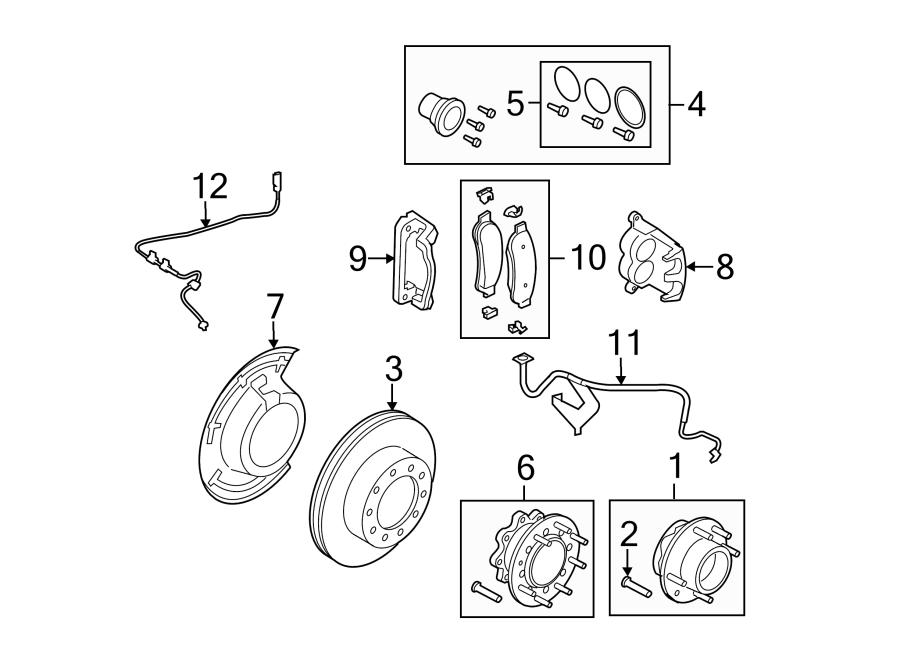 Ford F-350 Super Duty Abs wheel speed sensor. Left, brake